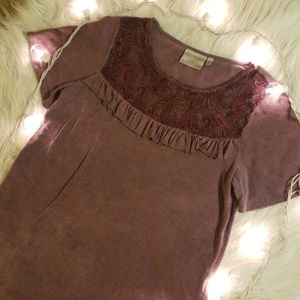 Lace With Ruffles top